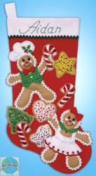 Design Works - Gingerbread Friends Stocking