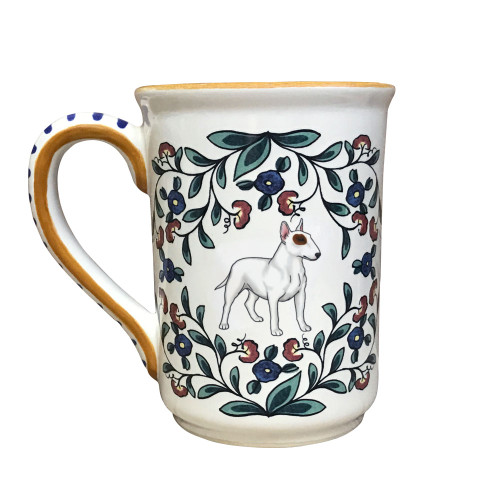 Handmade Bull Terrier mug from shepherds-grove.com