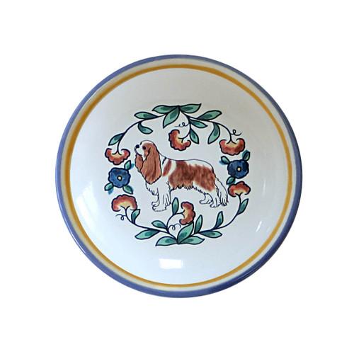 Blenheim Cavalier King Charles Spaniel  Ring Dish / Dipping Bowl from shepherds-grove.com