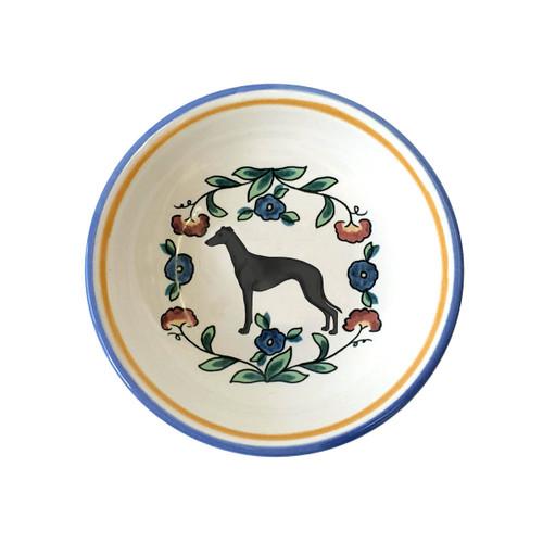 Black Greyhound ring dish / dipping bowl.  Handmade by shepherds-grove.com