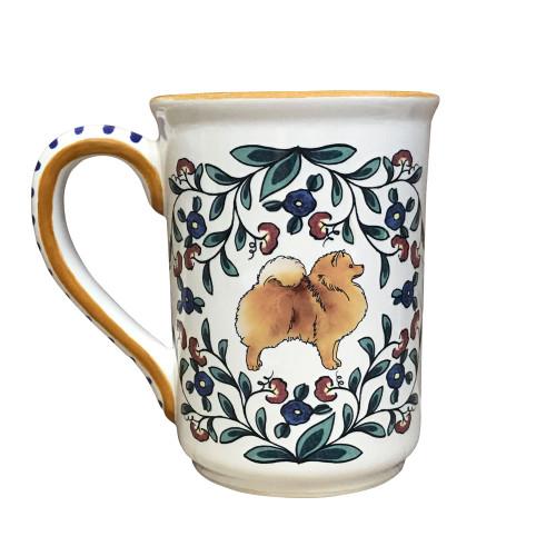 Orange Pomeranian dog lover mug by shepherds-grove.com