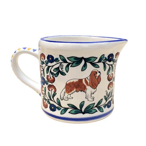 Blenheim Cavalier King Charles Spaniel creamer from shepherds-grove.com