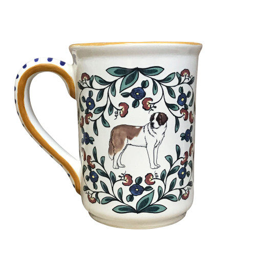 Handmade Saint Bernard Mug by shepherds-grove.com