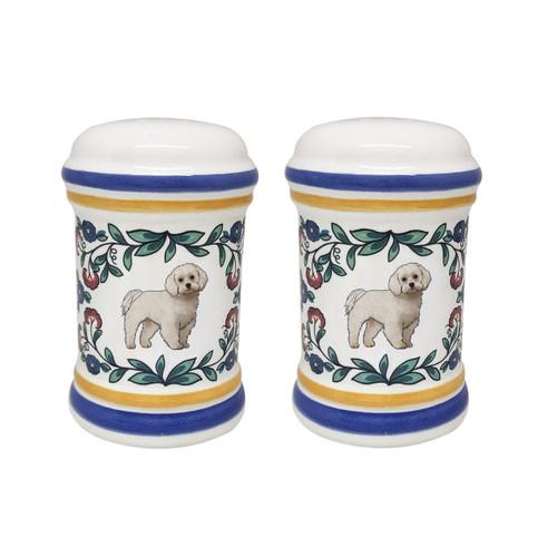 Maltese salt and pepper shaker set - handmade by shepherds-grove.com