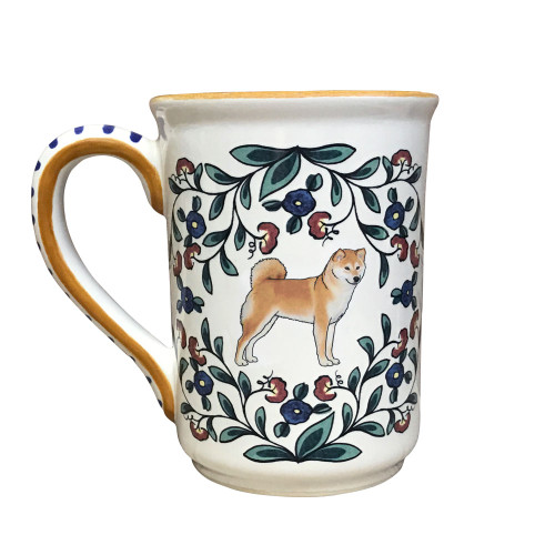Beautiful Shiba Inu mug, handmade by shepherds-grove.com