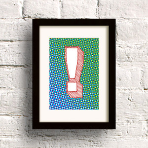 Pop print in Blue/Green by Dig The Earth