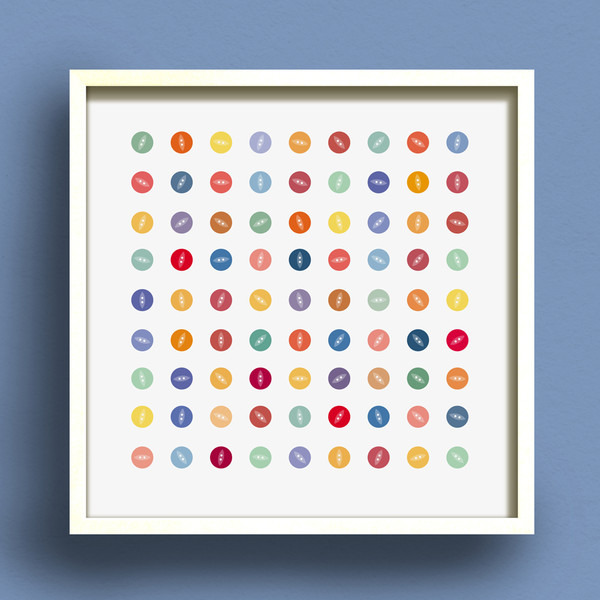 Button Square No.2 print by Dig The Earth