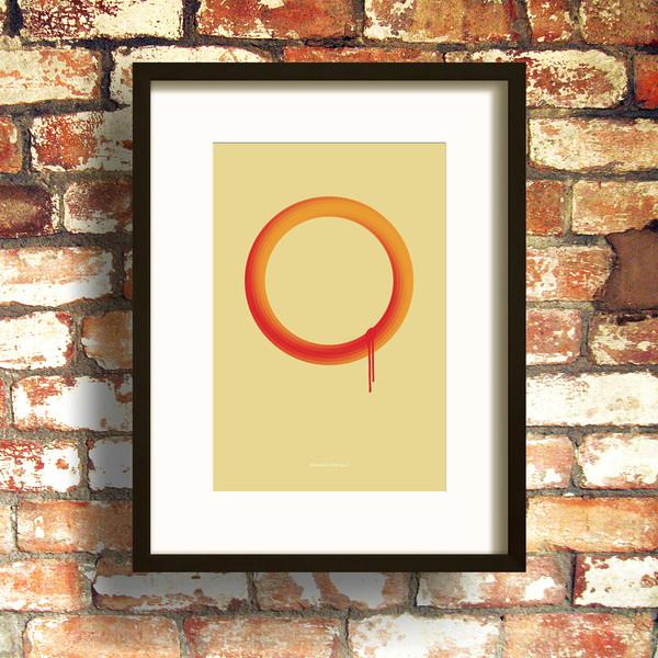 Orange Loop No.2 print by Dig The Earth