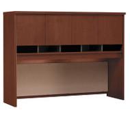 """BBF Bush Series C Desk Hutch 4-Door 60"""" Hansen Cherry - WC24462K"""