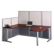 BBF Bush Office-in-an-Hour U-Shaped Workstation - WC36496-03K