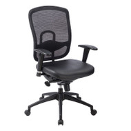 Eurotech by Raynor Accent Mesh Back Chair with Leather Seat - ML160A