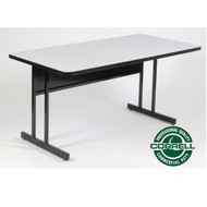 Correll High-Pressure Top Computer Desk or Training Table Keyboard Height  24 x 48 - CS2448