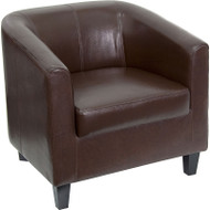 Flash Furniture Brown Leather Office Guest Chair / Reception Chair - BT-873-BN-GG