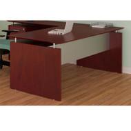"""* MONTHLY SPECIAL! Mayline Medina Laminate Executive Desk Straight 72"""" Mahogany - MNDS72-LMH"""
