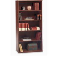 "BBF Bush Series C Bookcase 5-Shelf Open Double in Hansen Cherry 36"" - WC24414"