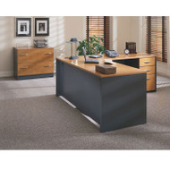 BBF Bush Series C Package Executive L-Shaped Desk Package Natural Cherry - NCPackageH