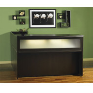 Mayline Aberdeen Reception Desk L-Shaped with one Pedestal File Drawer Mocha - ABEPackage2
