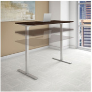 "Bush Series C 400 Height Adjustable Table Desk 72"" x 24"" Mocha Cherry - HAT7224MRK"
