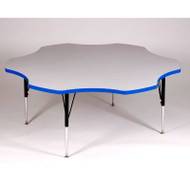 Correll High-Pressure Top Activity Table Flower Shape 60 with Colored T-Mold - A60-FLR-T
