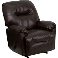 MONTHLY SPECIAL! Flash Furniture Contemporary Bentley Brown Leather Chaise Rocker Recliner - AM-9350-9075-GG