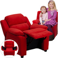 Flash Furniture Kid's Recliner with Storage Red Microfiber - BT-7985-KID-MIC-RED-GG