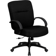 Flash Furniture Hercules Series Big & Tall Black Fabric Office Chair with Arms - WL-723ATG-BK-GG