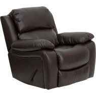 Flash Furniture Brown Leather Large Rocker Recliner/Pillow - MEN-DA3439-91-BRN-GG