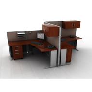 BBF Bush Office-in-an-Hour L-Shaped Desk Workstation 2-units - OIAH008HC