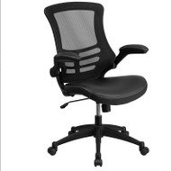 Flash Furniture Executive Swivel Black Mesh Back with LeatherSoft Seat - BL-X-5M-LEA-GG