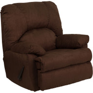 Flash Furniture Contemporary Montana Chocolate Microfiber Suede Rocker Recliner - WM-8500-263-GG