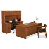 Basyx BW Veneer Series Executive Desk Package - BWPackageA