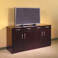 * MONTHLY SPECIAL! Mayline Napoli or Corsica Veneer Buffet Credenza Mahogany - VBCZ