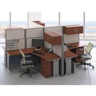 BBF Bush Office-in-an-Hour L-Shaped Desk Workstation 4-units - OIAH007HC