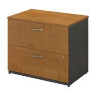BBF Bush Series C Lateral File Cabinet Natural Cherry Assembled - WC72454CSU