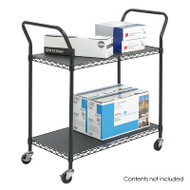 Safco Wire Utility Cart - 5337BL