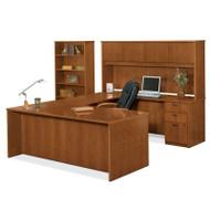 Basyx BW Veneer Series Executive Desk Package U-Shaped - BWPackageB