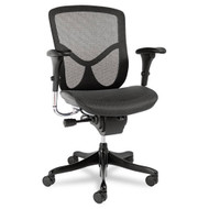 Alera EQ Series Ergonomic Multifunction Mid-Back Mesh Chair, Black - EQA42ME10B