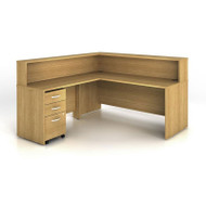 BBF Bush Series C Reception Desk Light Oak - SRC003LO
