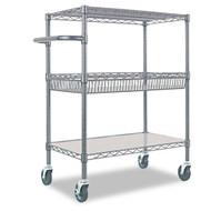 Alera Three-Tier Wire Rolling Cart - SW543018