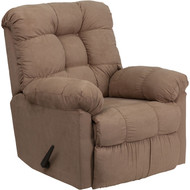 Flash Furniture Contemporary Sienna Mocha  Microfiber Rocker Recliner - HM-400-SIENNA-MOCHA-GG