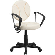 Flash Furniture Baseball Task Chair with Arms - BT-6179-BASE-A-GG