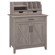 Bush Key West Laptop Storage Credenza with Desktop Oraganizer - KWS011WG