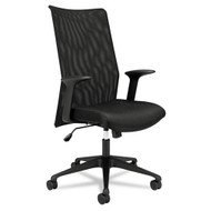 Basyx Black Mesh High-Back Chair - VL573VB10