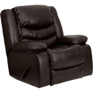 Flash Furniture Brown LeatherSoft Large Rocker Recliner/Pillow - MEN-DSC01078-BRN-GG