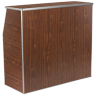 Flash Furniture Foldable Bar / Reception Desk 4' Walnut Laminate - XA-BAR-48-WAL-GG
