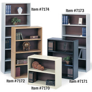 "Safco Value Mate Steel Bookcase 41"" 3-Shelf - 7171"