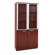 * MONTHLY SPECIAL! Mayline Napoli or Corsica Veneer High Wall Cabinet with Doors Sierra Cherry - VHC-CRY