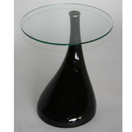 Wholesale Interiors Antigonus Glass Top Abstract Accent Table - 2309-Black