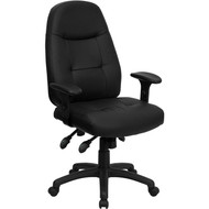 Flash Furniture High Back Black Leather Executive Office Chair - BT-2350-BK-GG