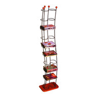 Atlantic Wave 74 DVDs Tower Black With Cherry Wood - 1386